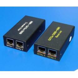 Prodlužovací adaptér HDMI přes 2x UTP/STP