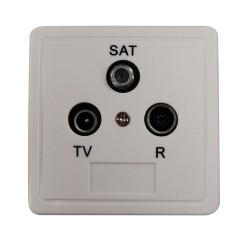 Zásuvka TV/R/SAT průchozí 13dB