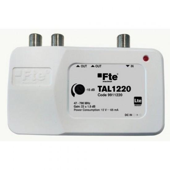 FTE TAL 1220, zesilovač, 2x výstup