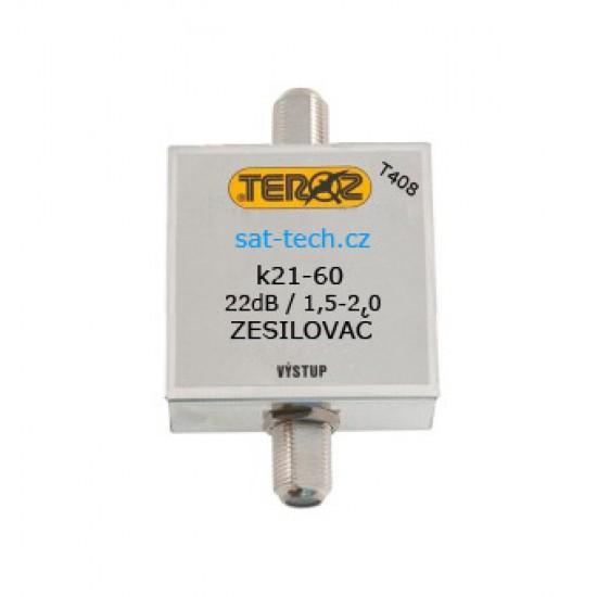 T408 zesilovač UHF, 22dB